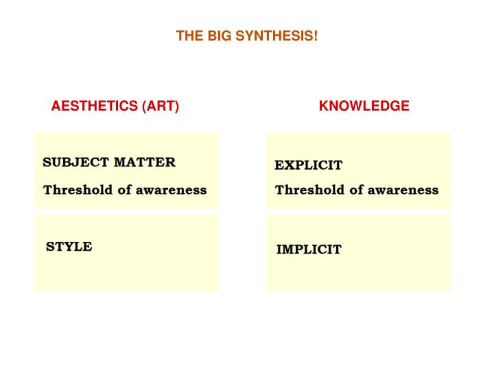 THE BIG SYNTHESIS!
