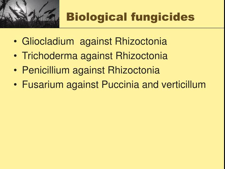 Biological fungicides