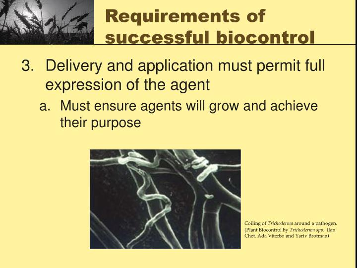 Requirements of successful biocontrol