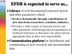 efdb is expected to serve as