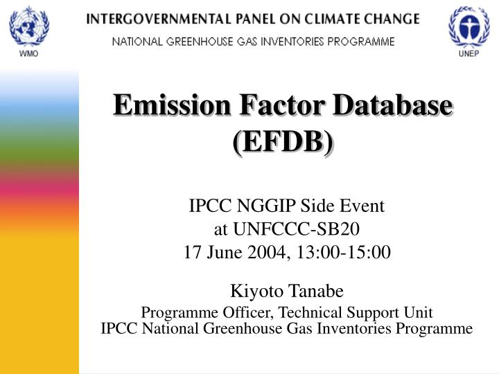 emission factor database efdb