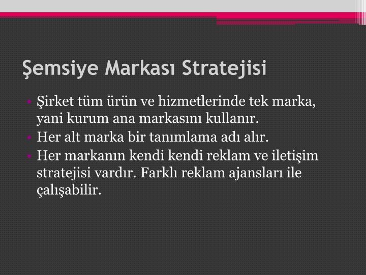 Şemsiye Markası Stratejisi