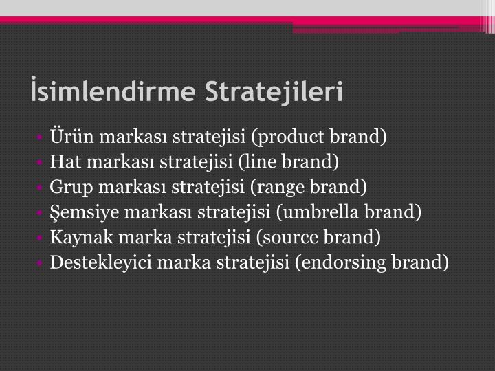 İsimlendirme Stratejileri