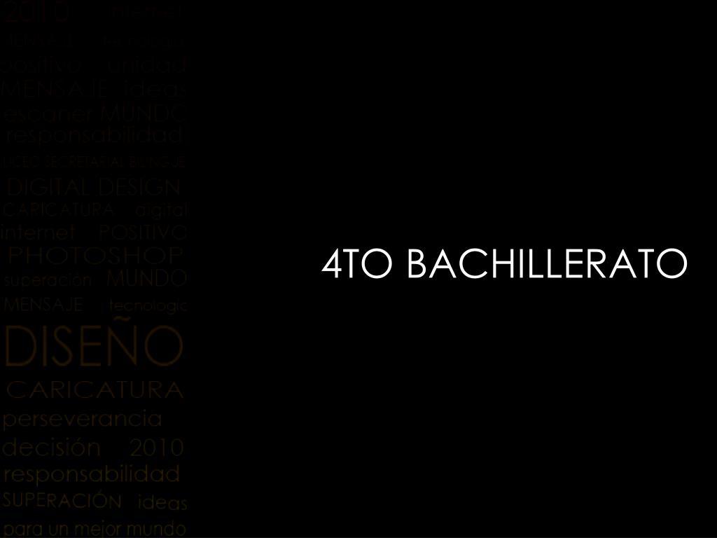 4TO BACHILLERATO