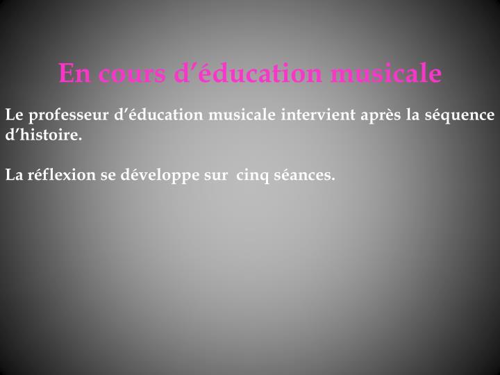 En cours dducation musicale