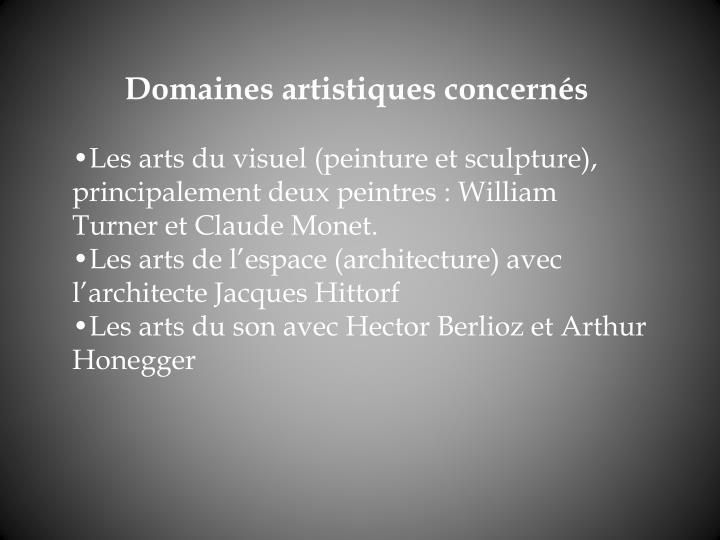 Domaines artistiques concerns