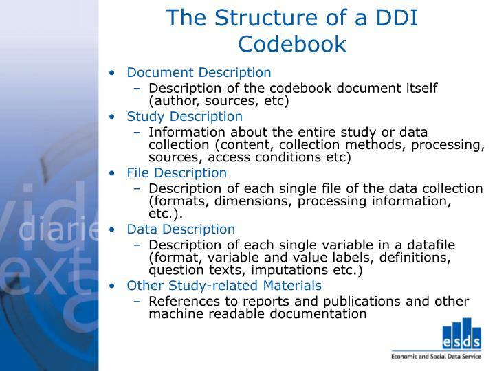 The Structure of a DDI Codebook