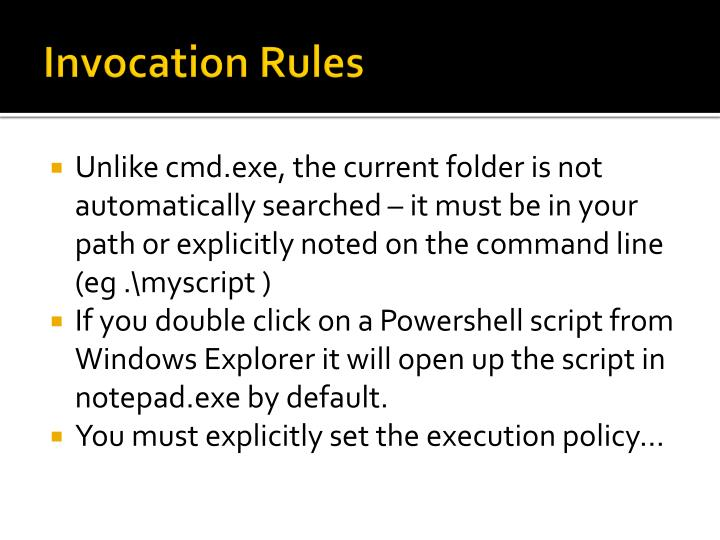 Invocation Rules