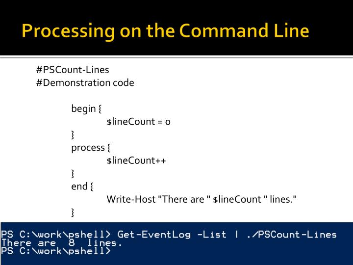 Processing on the Command Line