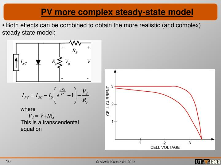 PV more complex steady-state model