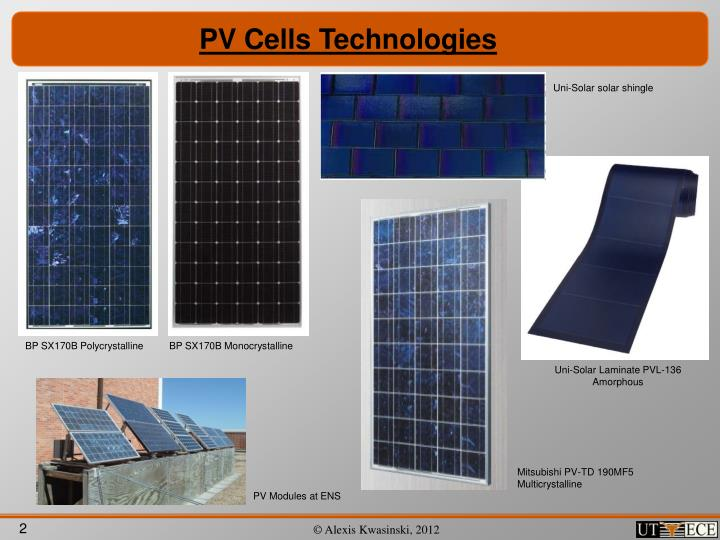 PV Cells Technologies