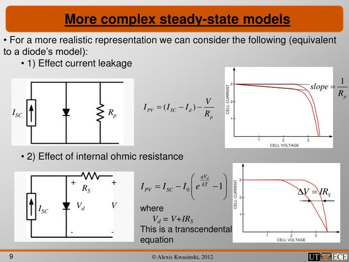 More complex steady-state models