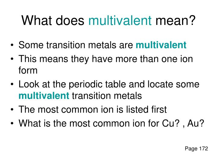 What does multivalent mean