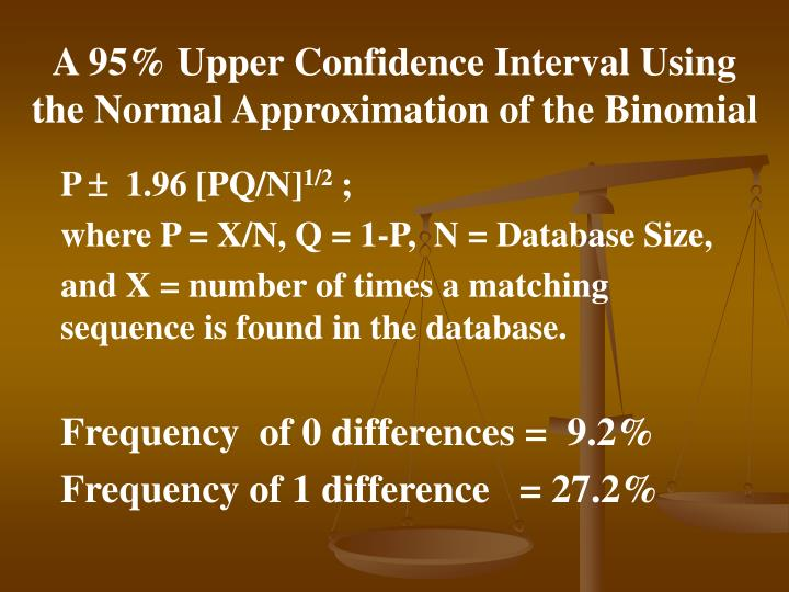 A 95% Upper Confidence Interval Using the Normal Approximation of the Binomial