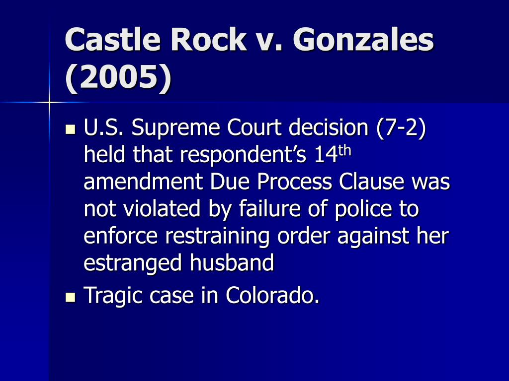 Castle Rock v. Gonzales (2005)