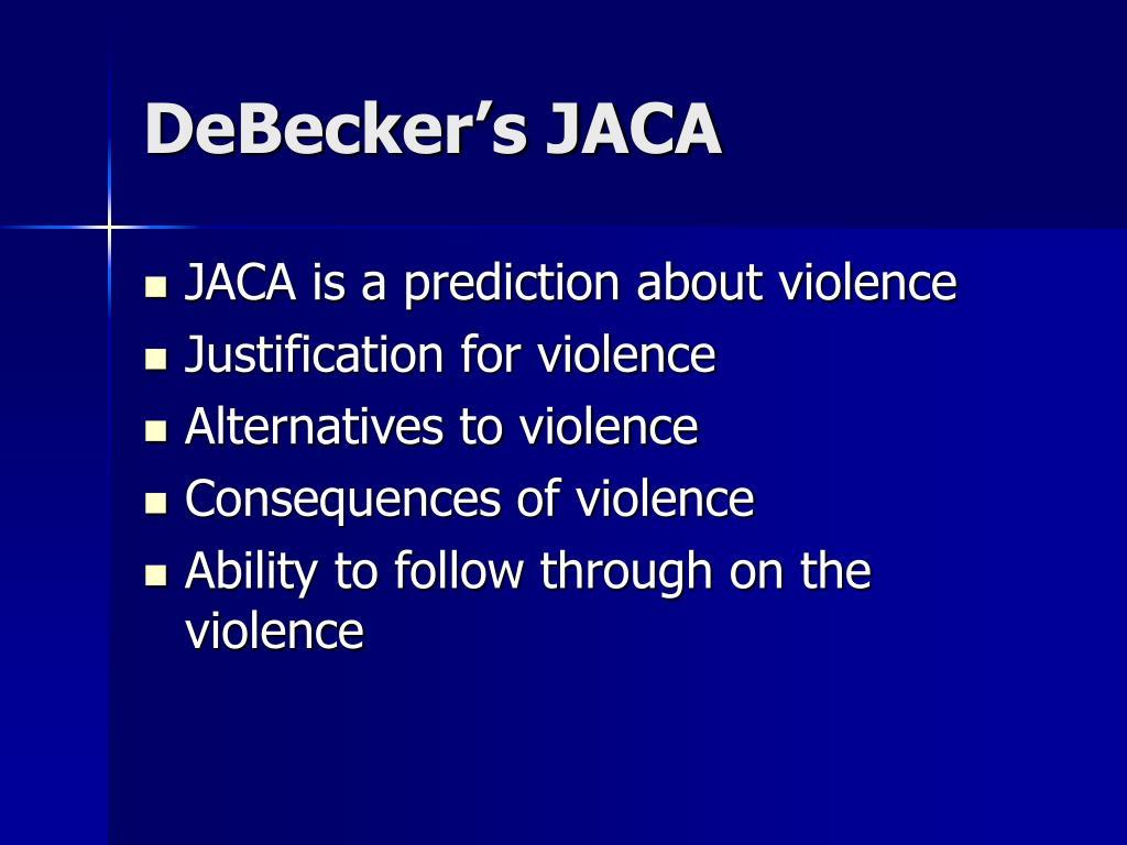 DeBecker's JACA