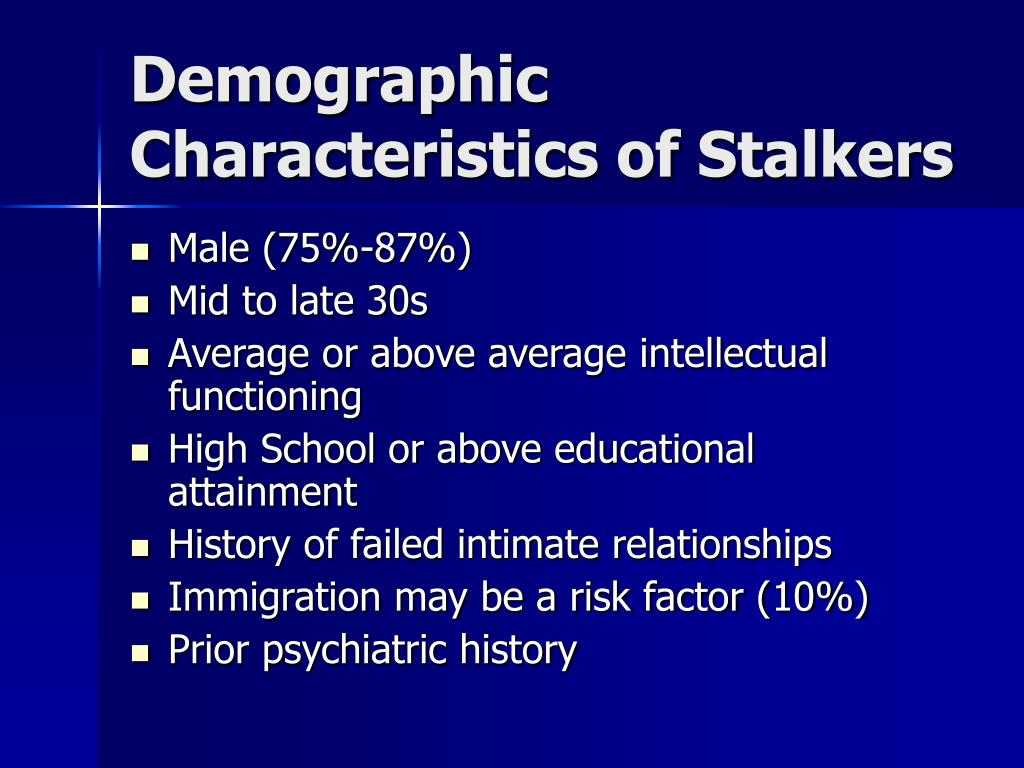 Demographic Characteristics of Stalkers