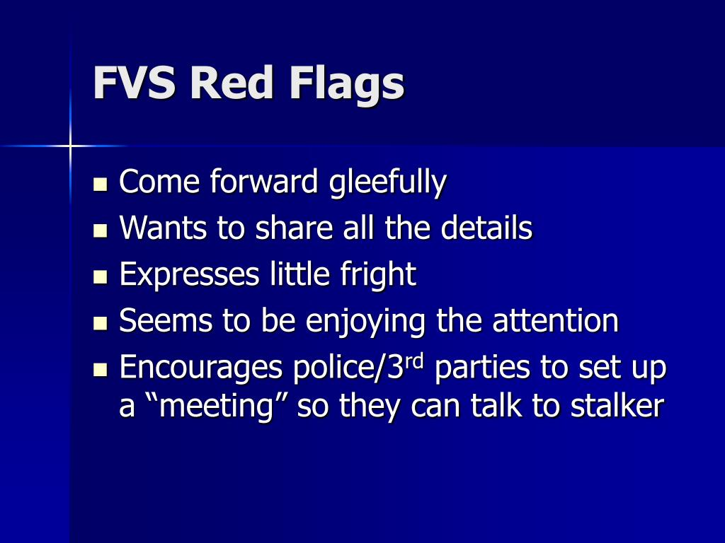 FVS Red Flags