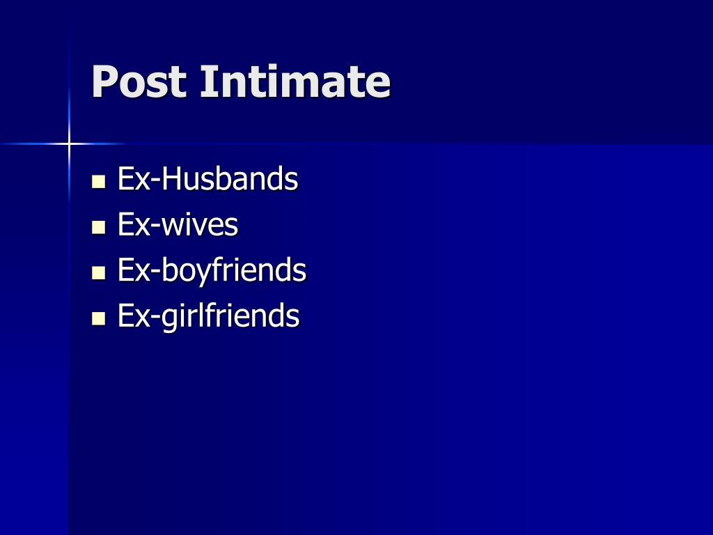 Post Intimate