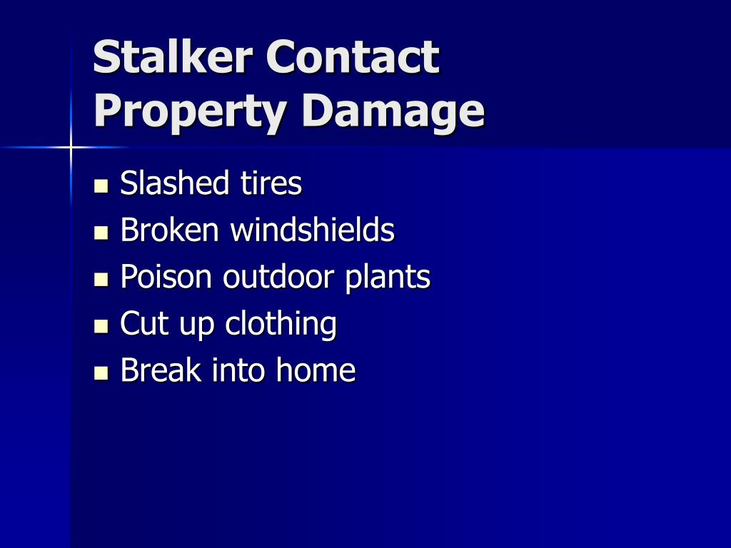 Stalker Contact
