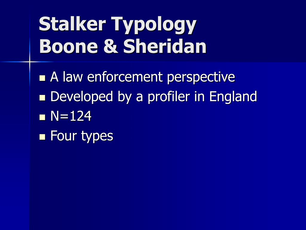 Stalker Typology