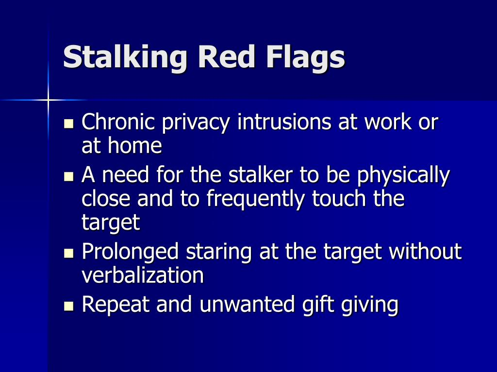 Stalking Red Flags