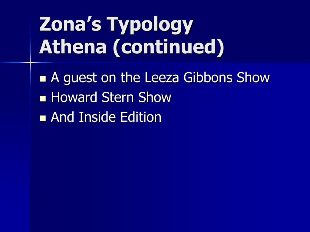 Zona's Typology