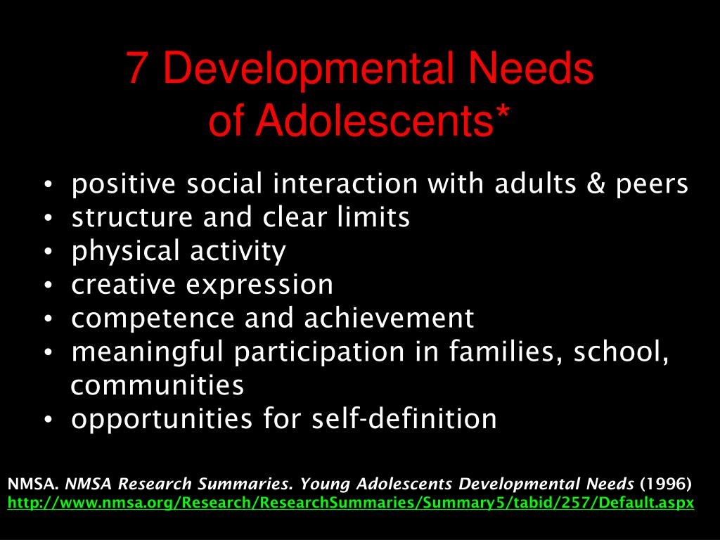7 Developmental Needs