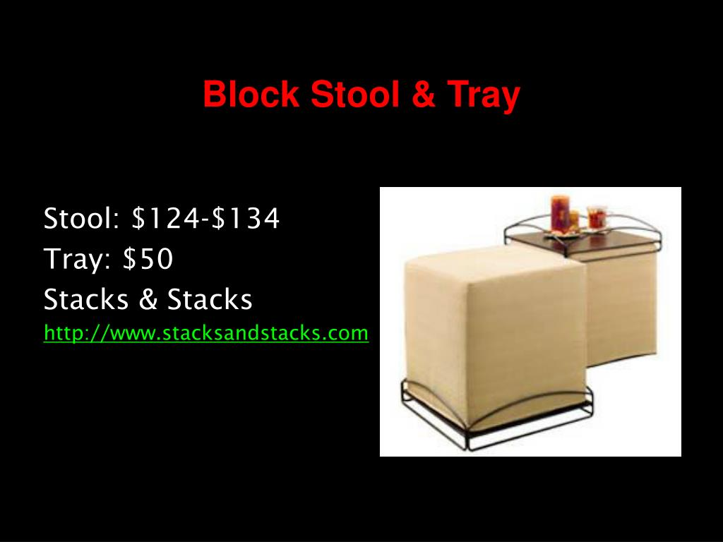 Block Stool & Tray