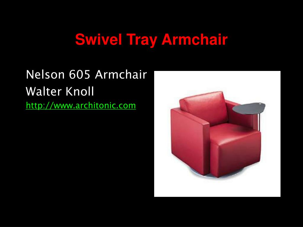Swivel Tray Armchair