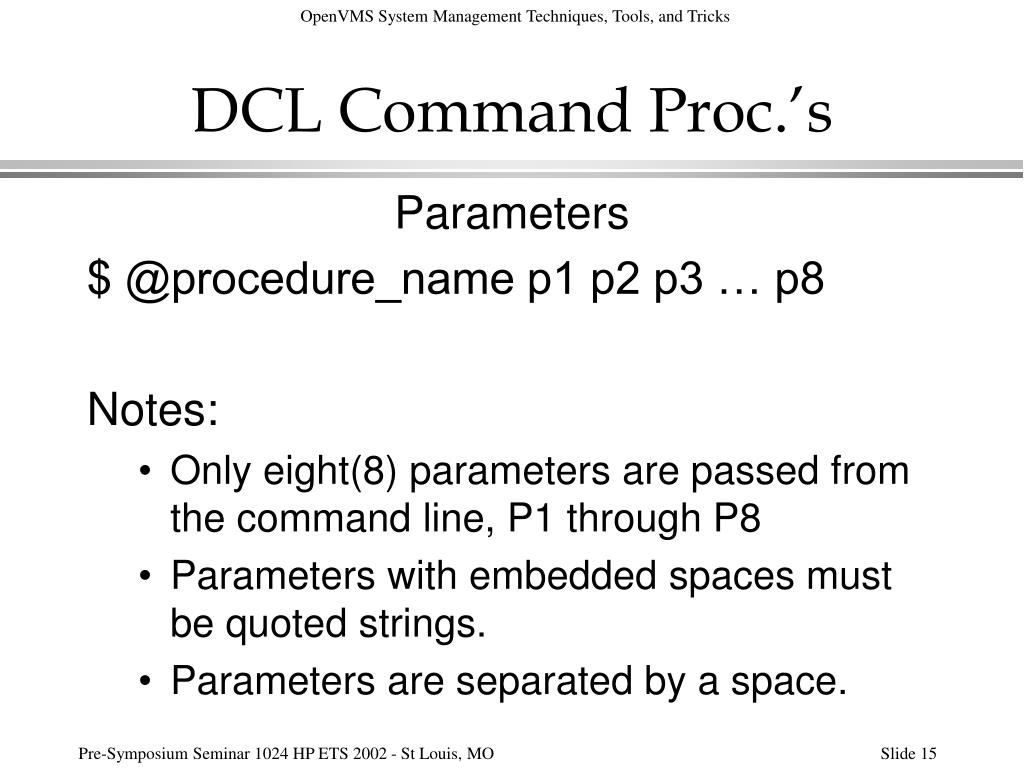 DCL Command Proc.'s