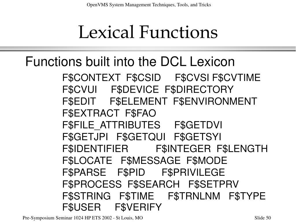 Lexical Functions
