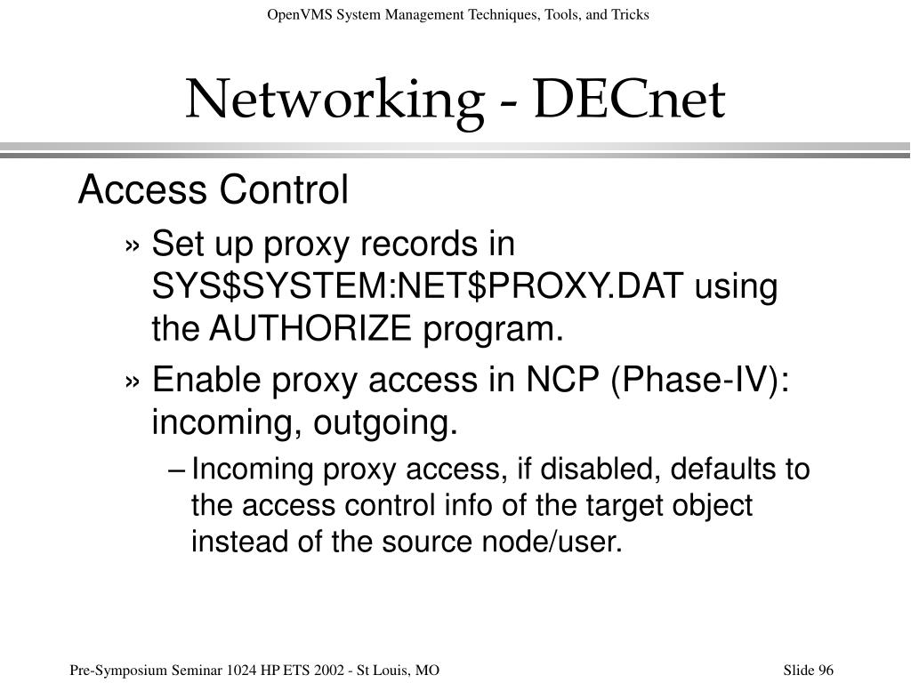 Networking - DECnet