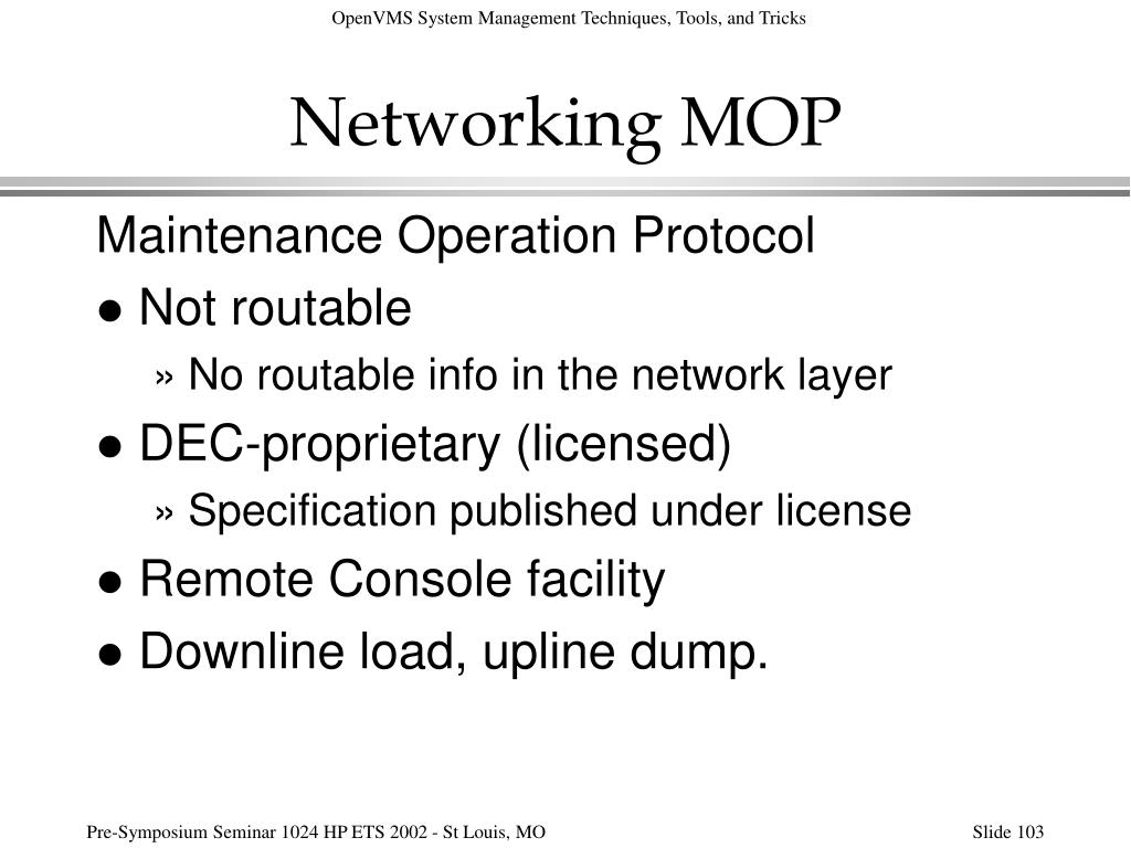 Networking MOP
