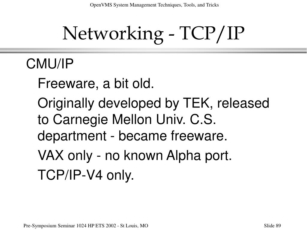 Networking - TCP/IP