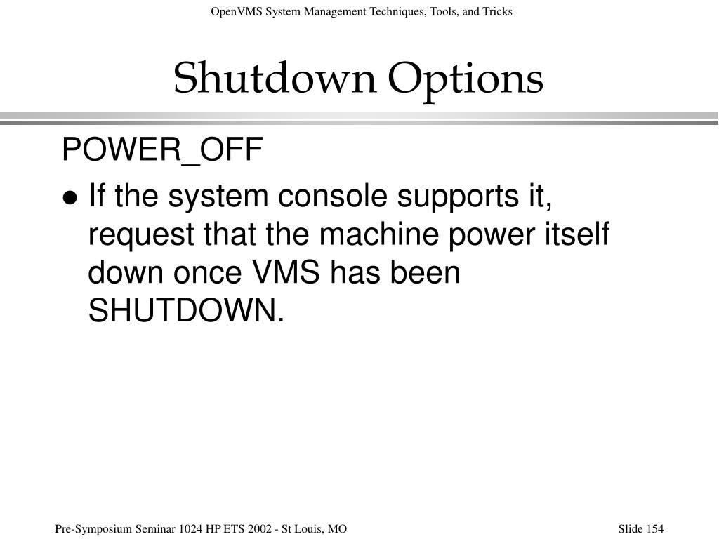 Shutdown Options