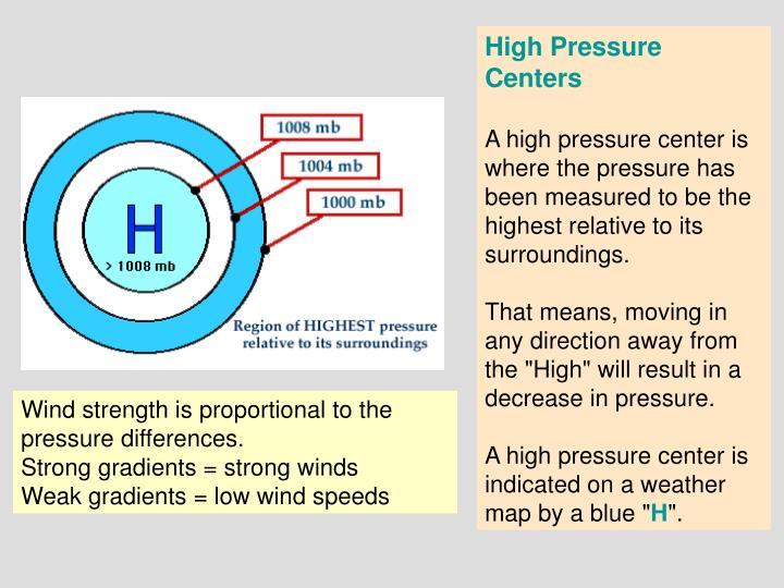 High Pressure Centers