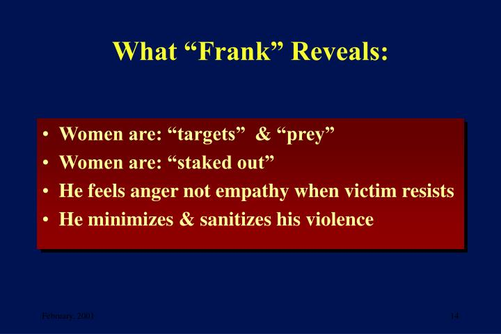 """What """"Frank"""" Reveals:"""