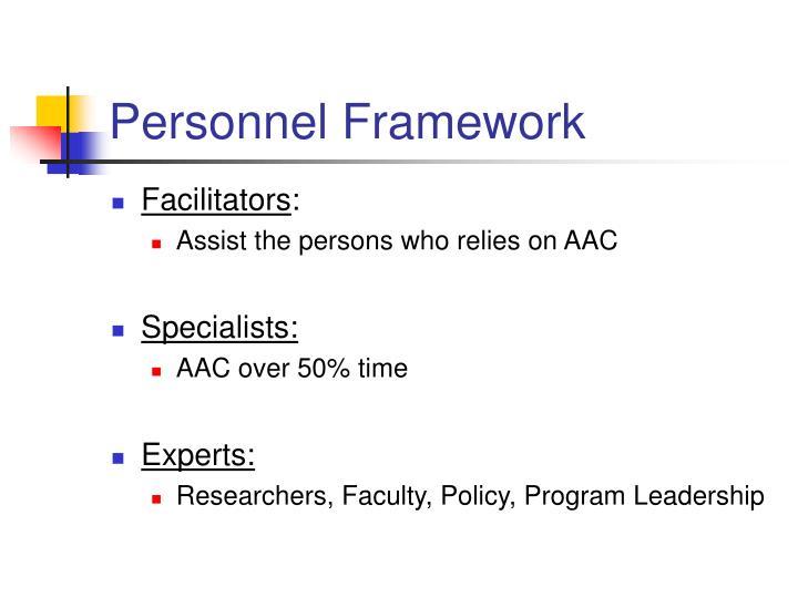 Personnel Framework