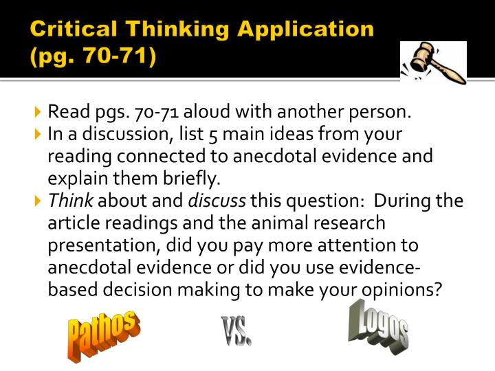 Critical Thinking Application