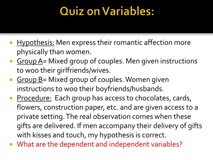 Quiz on Variables: