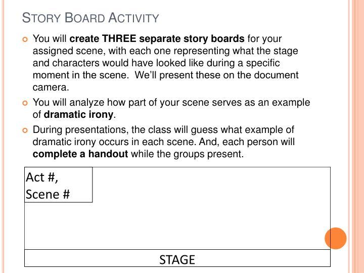 Story Board Activity