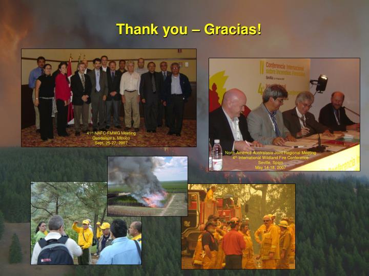 Thank you – Gracias!