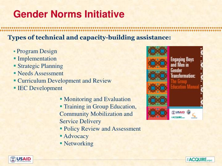 Gender Norms Initiative