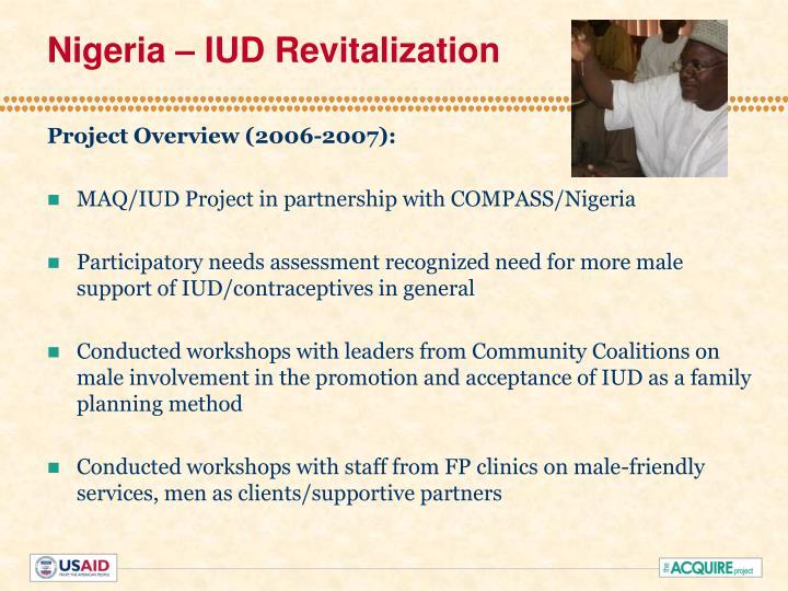 Nigeria – IUD Revitalization