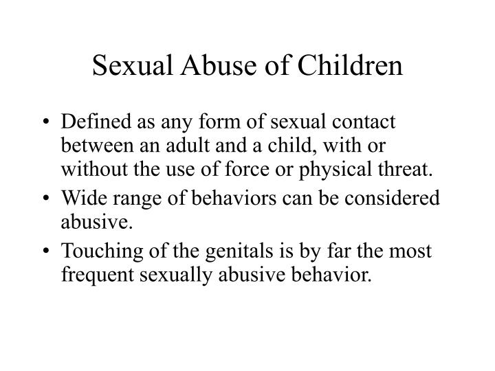 Sexual Abuse of Children