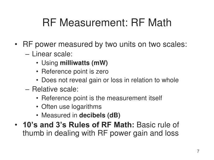 RF Measurement: RF Math