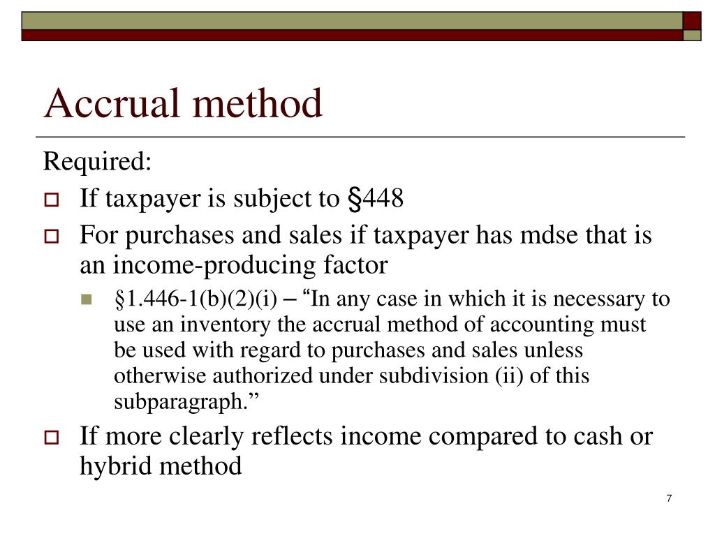 accrual method essay Opposite of the cash method, the accrual method does not portray an excellent record of cash flow but accrual vs cost accounting – essay example.