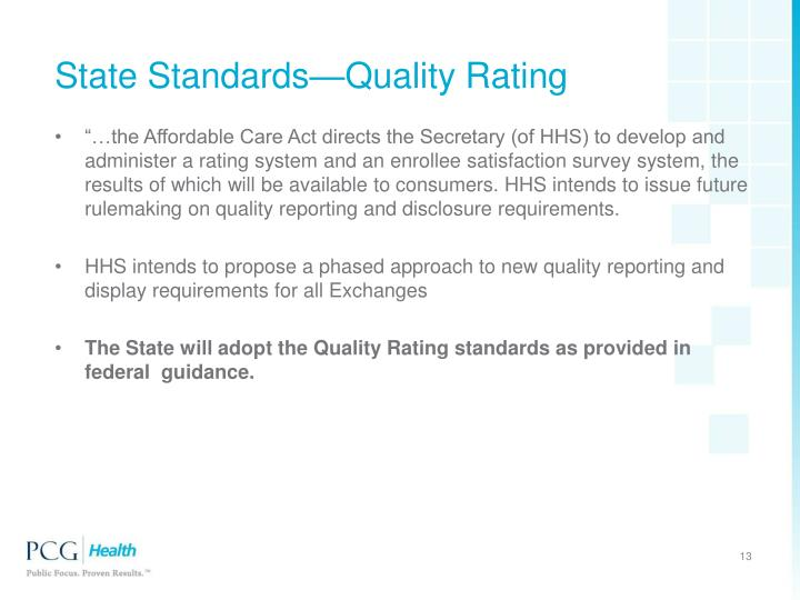 State Standards—Quality Rating