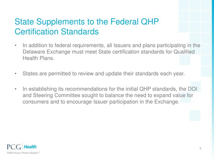 State supplements to the federal qhp certification standards
